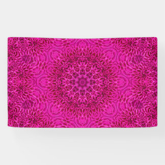 Pink Flower Pattern  Banners, 4 sizes Banner