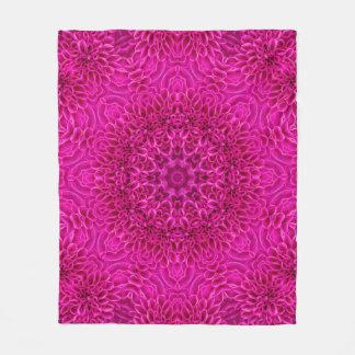 Pink Flower Pattern Custom Fleece Blanket, 3 sizes