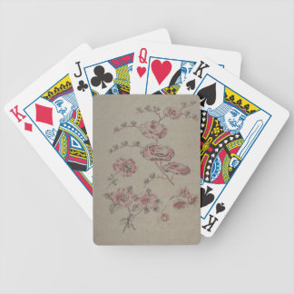Pink Flower Pattern - French Bicycle Playing Cards