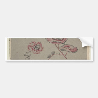 Pink Flower Pattern - French Bumper Sticker