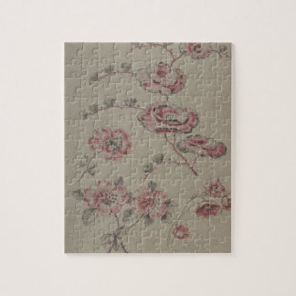 Pink Flower Pattern - French Jigsaw Puzzle