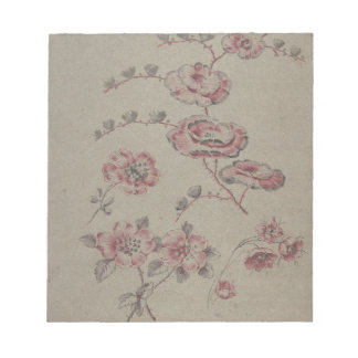 Pink Flower Pattern - French Notepad