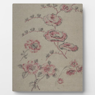 Pink Flower Pattern - French Plaque