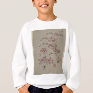 Pink Flower Pattern - French Sweatshirt