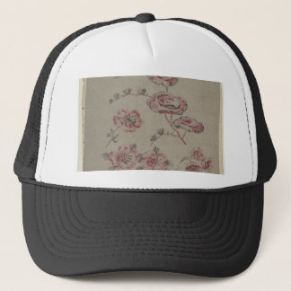 Pink Flower Pattern - French Trucker Hat