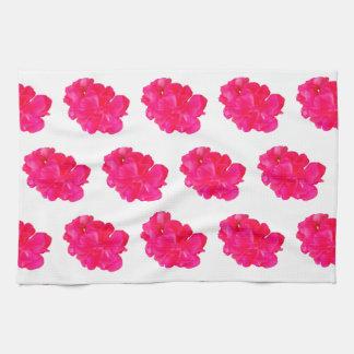 Pink Flower Pattern Kitchen Towel