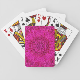 Pink Flower Pattern Playing Cards