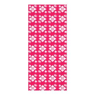 Pink flower pattern rack card design