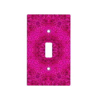 Pink Flower Pattern  Switch Covers, 6 styles Light Switch Cover