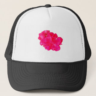 Pink Flower Pattern Trucker Hat
