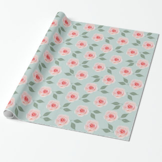 Pink Flower Pattern Wrapping Paper
