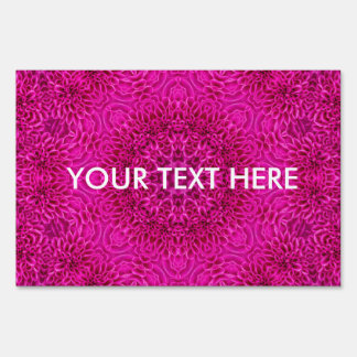 Pink Flower Pattern  Yard Signs, 3 sizes Sign