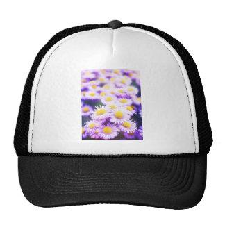 Pink flower pattert mesh hat