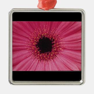 Pink flower pendant metal ornament