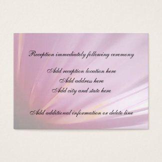 Pink Flower Petal Reception Card