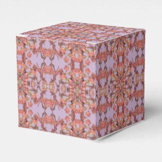 pink flower petals gift box