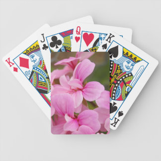 Pink flower playing cards
