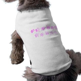Pink Flower Power Doggie Tshirt