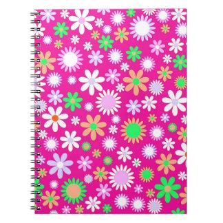 Pink Flower Power Notebook