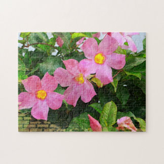 Pink Flower Puzzle