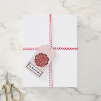 Pink Flower Ribbon Pack Of Gift Tags