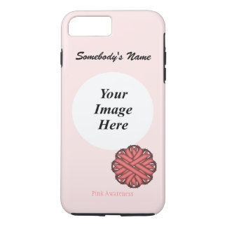 Pink Flower Ribbon Template by Kenneth Yoncich iPhone 7 Plus Case