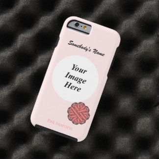 Pink Flower Ribbon Template by Kenneth Yoncich Tough iPhone 6 Case