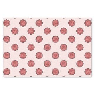 Pink Flower Ribbon Tissue Paper