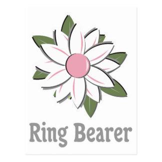 Pink Flower Ring Bearer Postcards