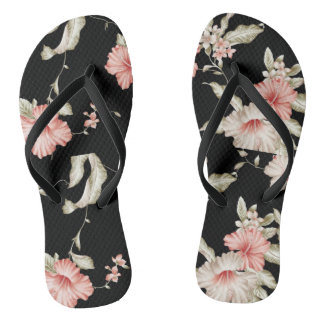 PINK FLOWER SLEEPER FLIP FLOPS