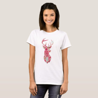 Pink Flower Stag T-shirt