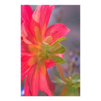 Pink Flower Stationery