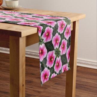pink flower table runner