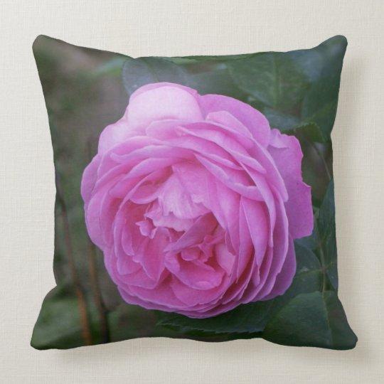 Pink flower. throw pillow