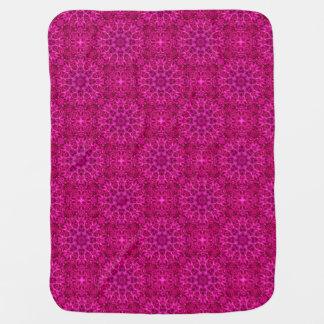 Pink Flower Tiled Design Baby Blankets