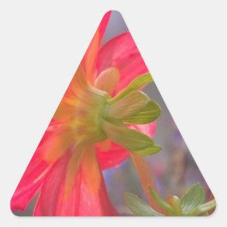 Pink Flower Triangle Sticker