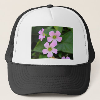 pink-flower trucker hat