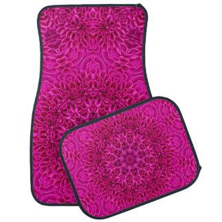 Pink Flower Vintage Kaleidoscope  Car Floor Mats 4