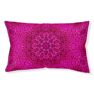 Pink Flower  Vintage Kaleidoscope Dog Bed