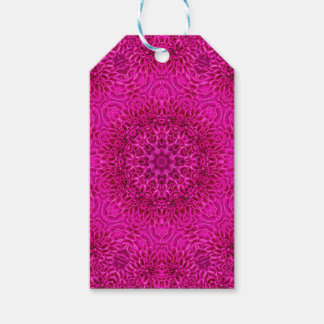 Pink Flower Vintage Kaleidoscope  Gift Tags
