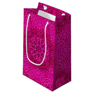 Pink Flower Vintage Kaleidoscope Small Gift Bag