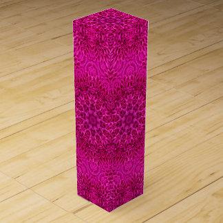 Pink Flower Vintage Kaleidoscope Wine Gift Box