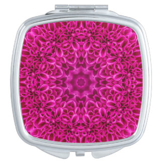 Pink Flower Vintage  Pattern  Compact Mirrors