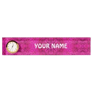 Pink Flower Vintage  Pattern  Desk Nameplate