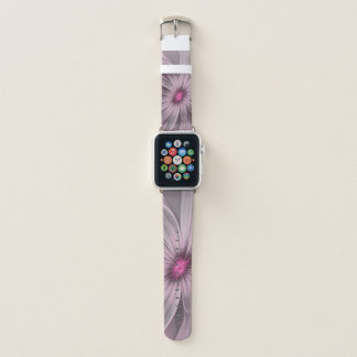 Pink Flower Waiting For A Bee Abstract Fractal Art Apple Watch Band