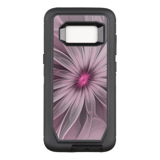 Pink Flower Waiting For A Bee Abstract Fractal Art OtterBox Defender Samsung Galaxy S8 Case