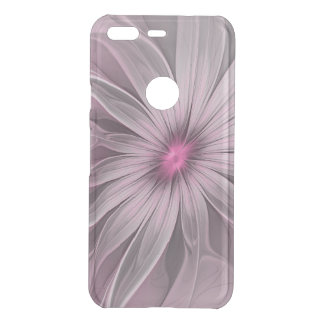 Pink Flower Waiting For A Bee Abstract Fractal Art Uncommon Google Pixel Case