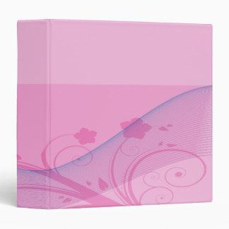 pink flower waves notebook binders