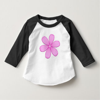 Pink Flower with Stitches T-Shirt