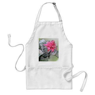 Pink Flowered Bromeliad Standard Apron